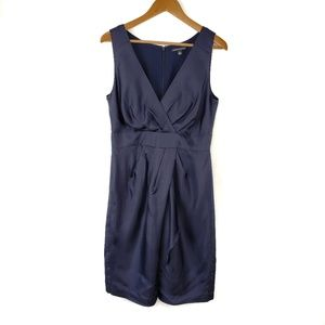 Banana Republic Navy Blue Silk Sleeveless Dress